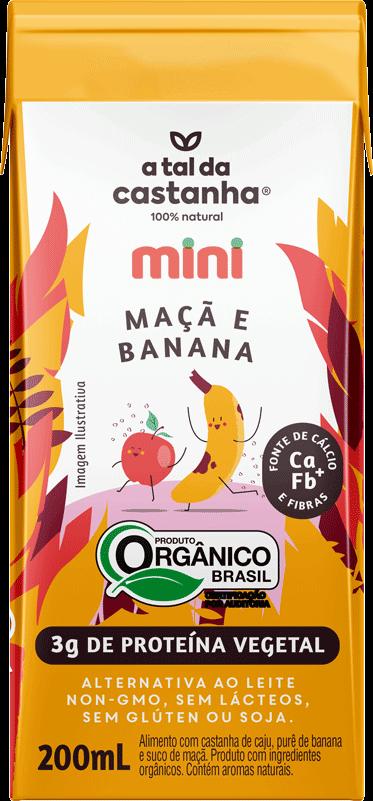 Mini sabor Maçã e Banana Orgânico